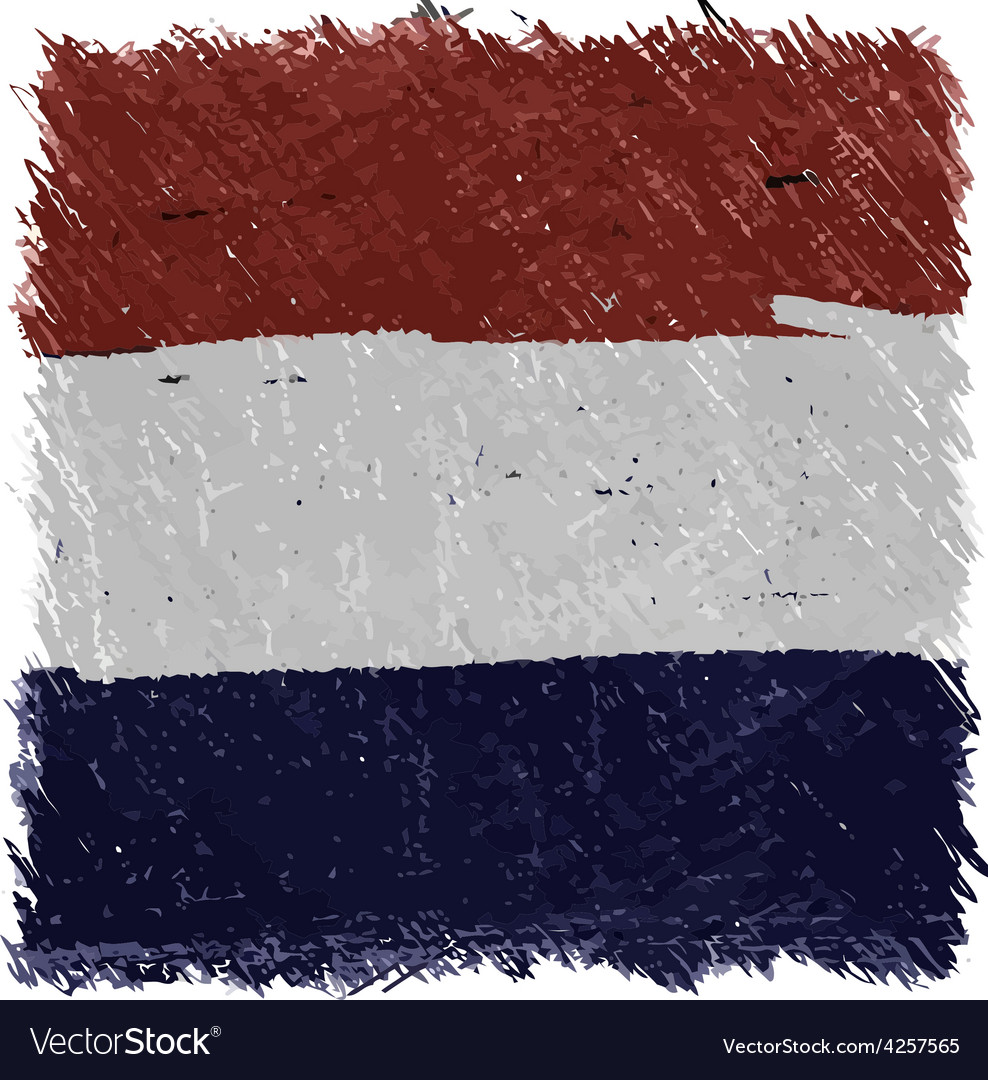 Flag of netherlands handmade square shape vector | Price: 1 Credit (USD $1)