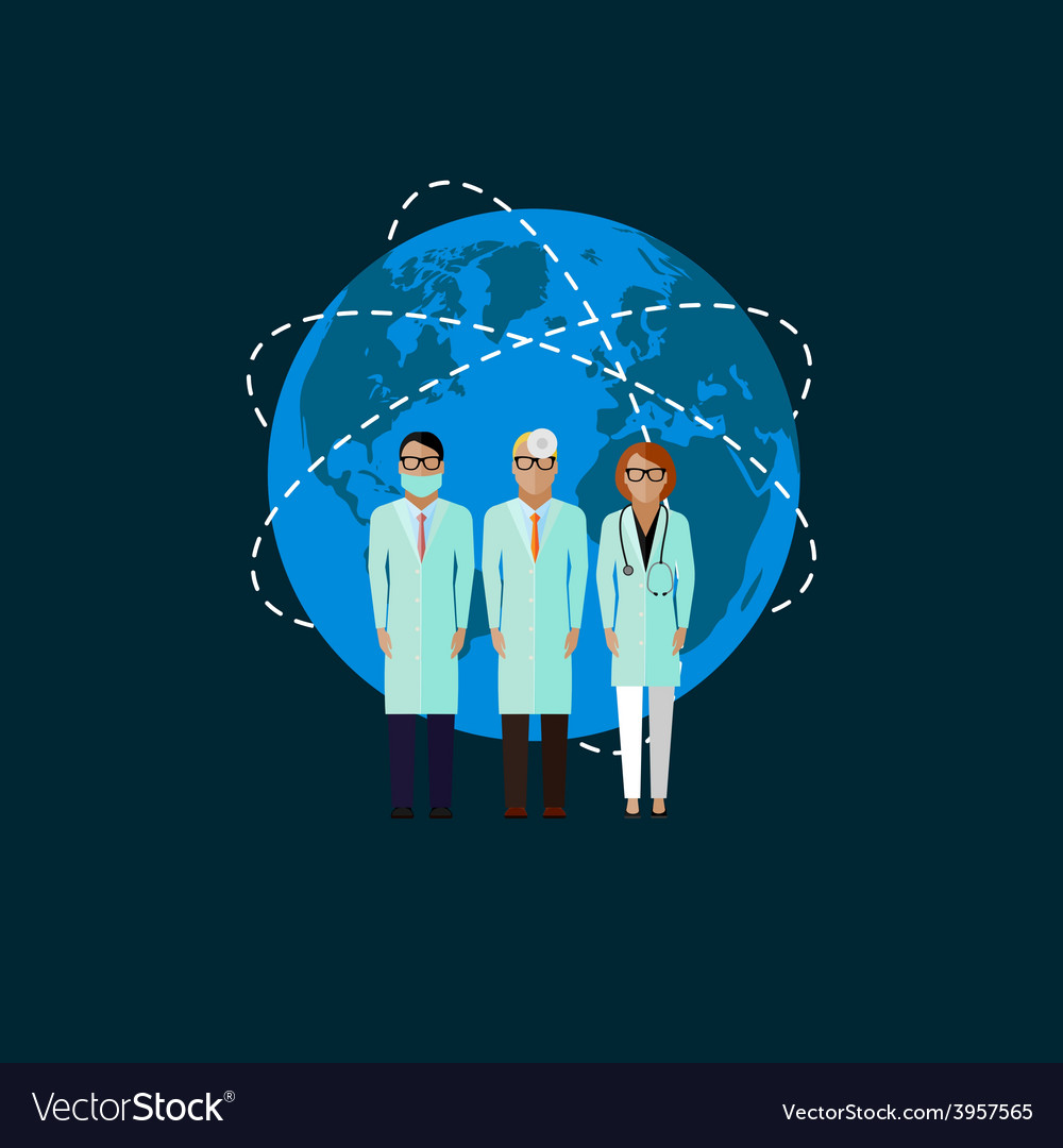 Flat of doctors medical and vector | Price: 1 Credit (USD $1)