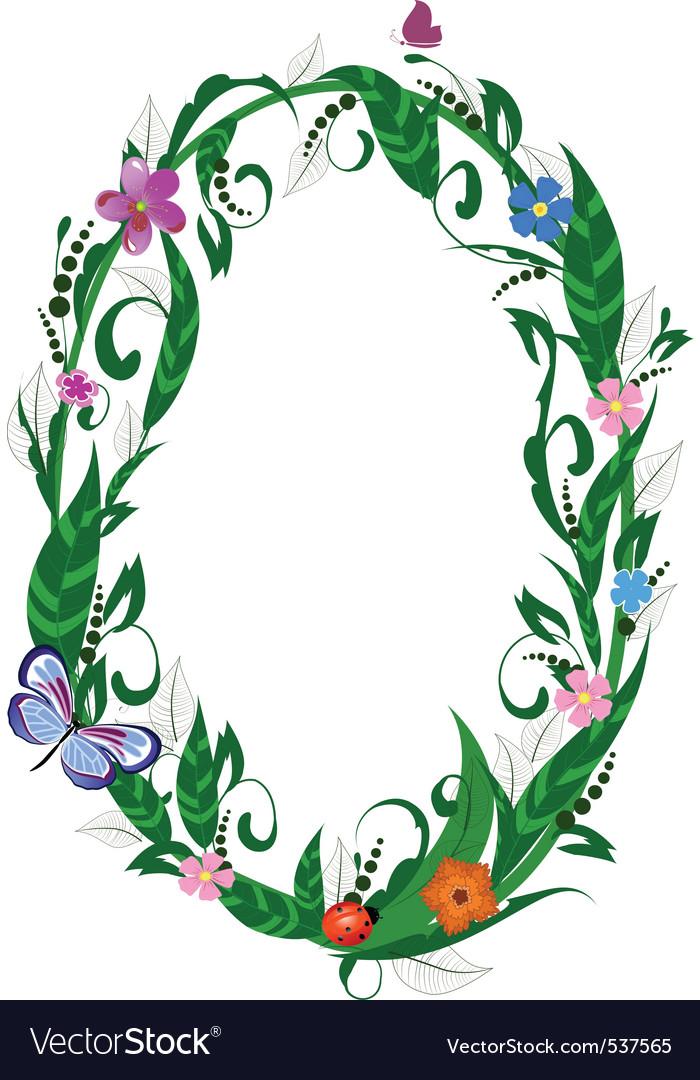Flower number of butterflies vector | Price: 1 Credit (USD $1)
