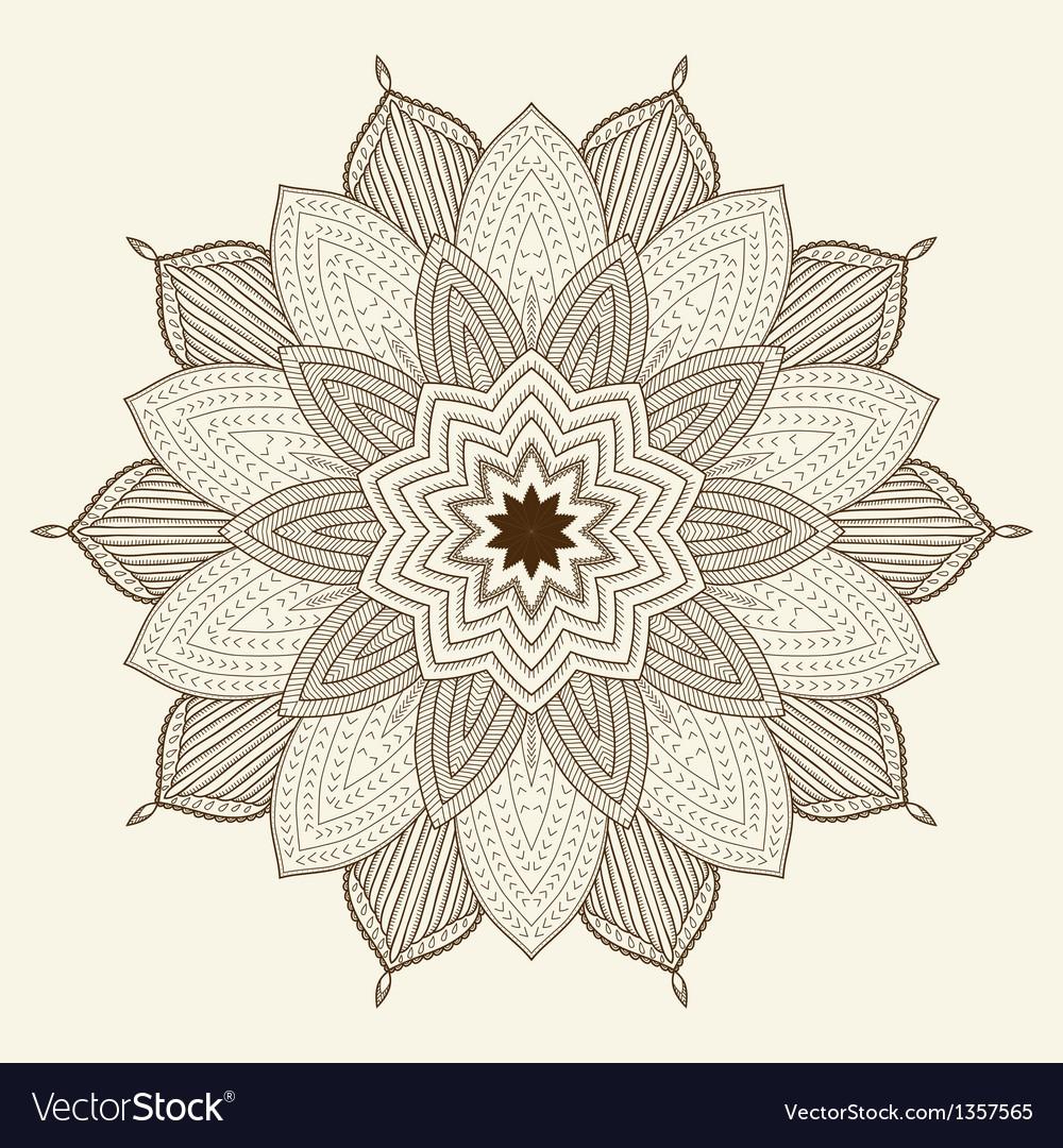 Mandala beautiful hand drawn flower vector | Price: 1 Credit (USD $1)