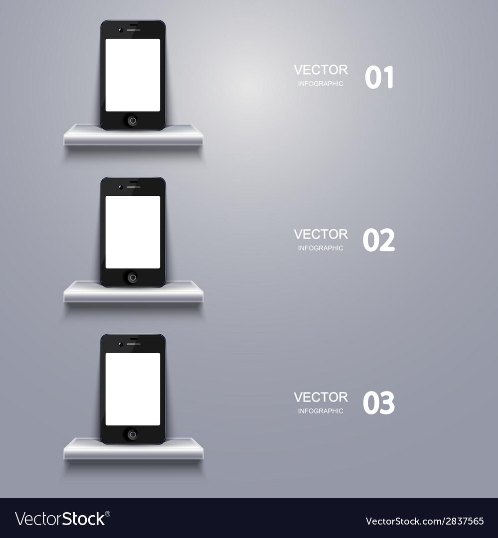Modern smartphone infographic vector | Price: 1 Credit (USD $1)