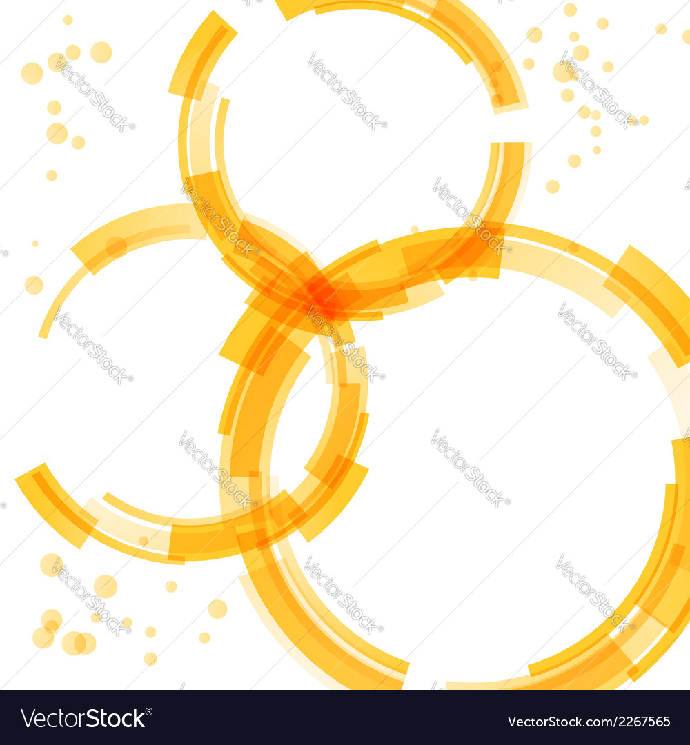 Orange bright circle design elements vector | Price: 1 Credit (USD $1)