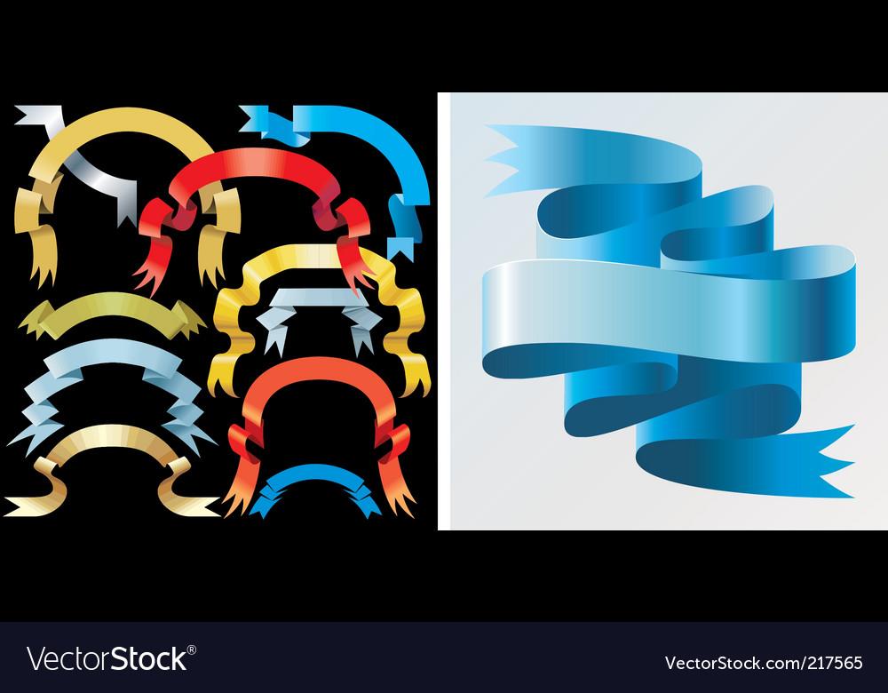 Ribbons vector | Price: 3 Credit (USD $3)