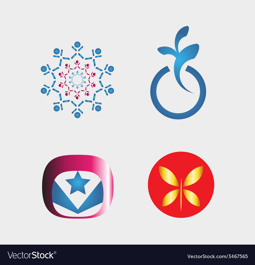 Set of logo and icons vector