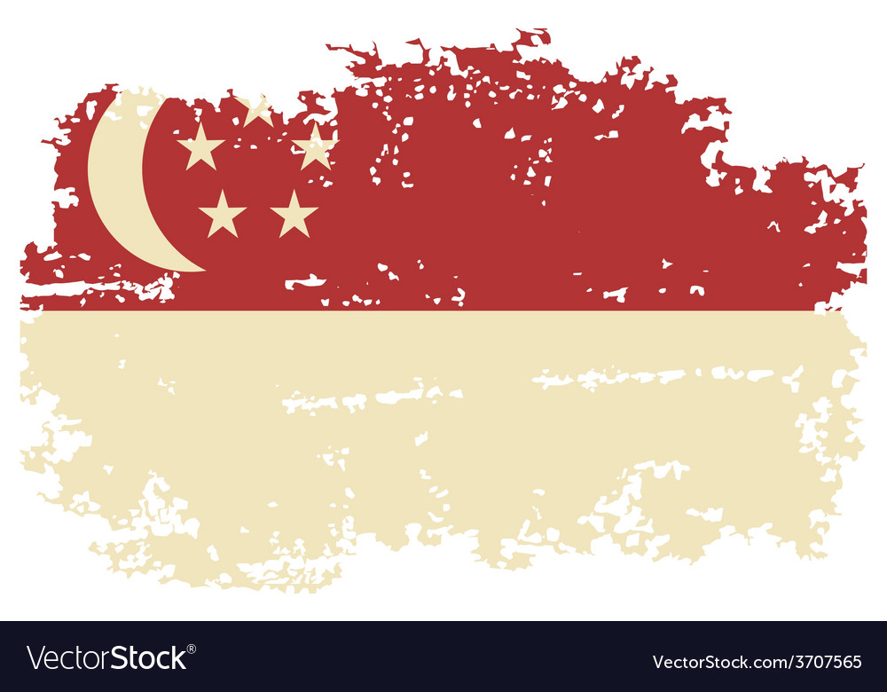 Singapore grunge flag vector | Price: 1 Credit (USD $1)
