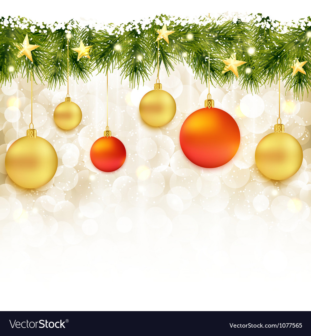Soft and blurry christmas background with baubles vector | Price: 1 Credit (USD $1)