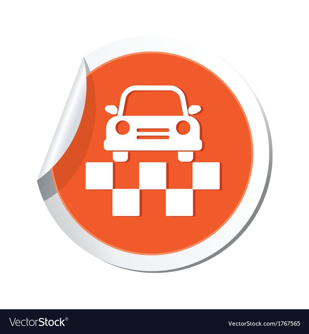 Taxi symbol orande tag vector   Price: 1 Credit (USD $1)