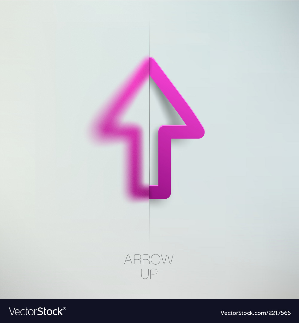 Arrow up vector | Price: 1 Credit (USD $1)