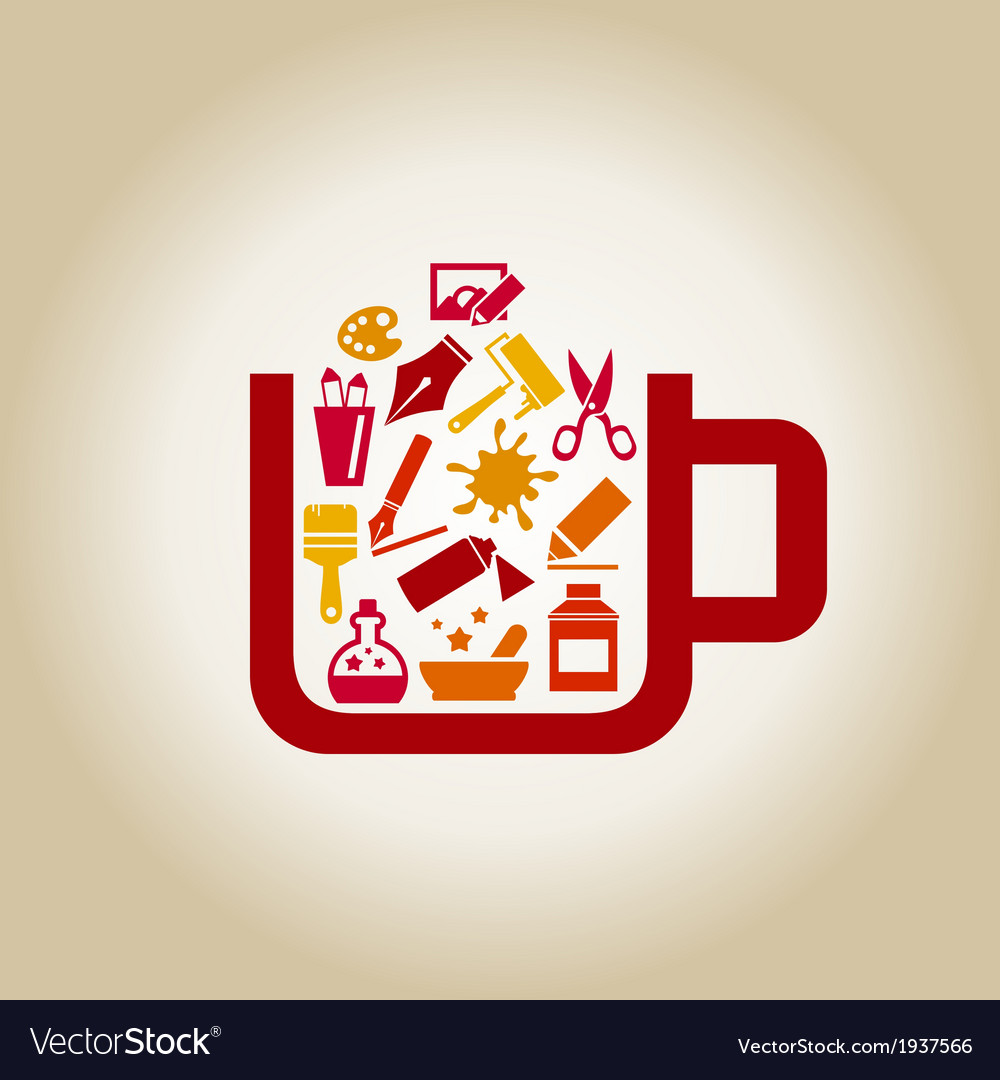 Art a cup vector | Price: 1 Credit (USD $1)