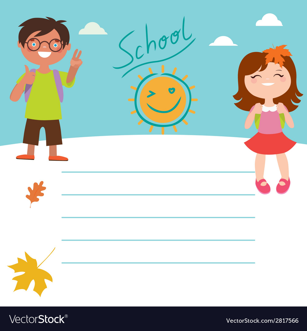 Back to school design with kids vector | Price: 1 Credit (USD $1)