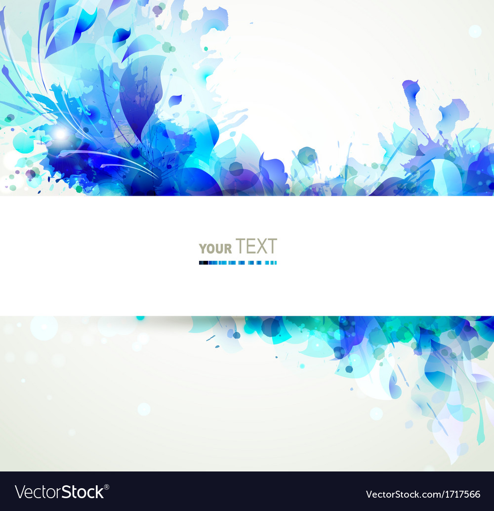 Blue floral vector | Price: 1 Credit (USD $1)