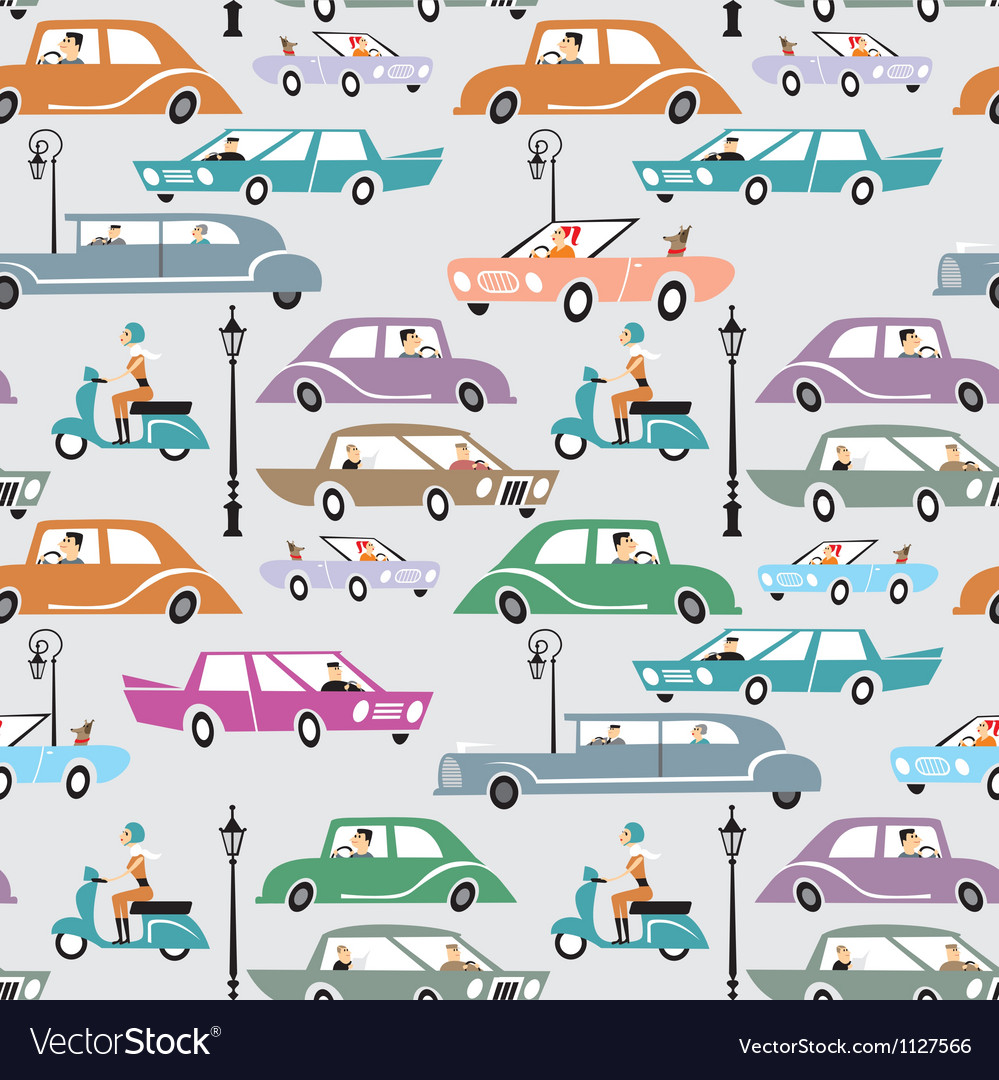 Cars in the city vector | Price: 1 Credit (USD $1)