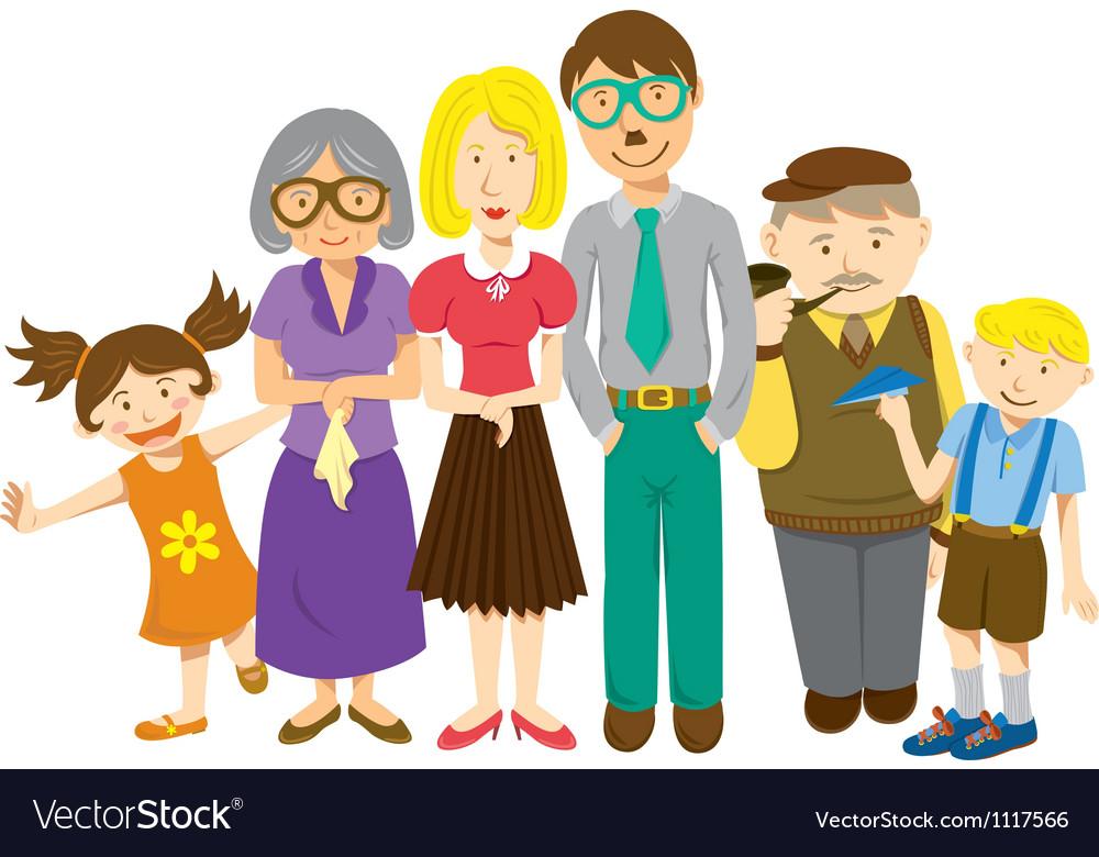 Cartoon family vector | Price: 1 Credit (USD $1)