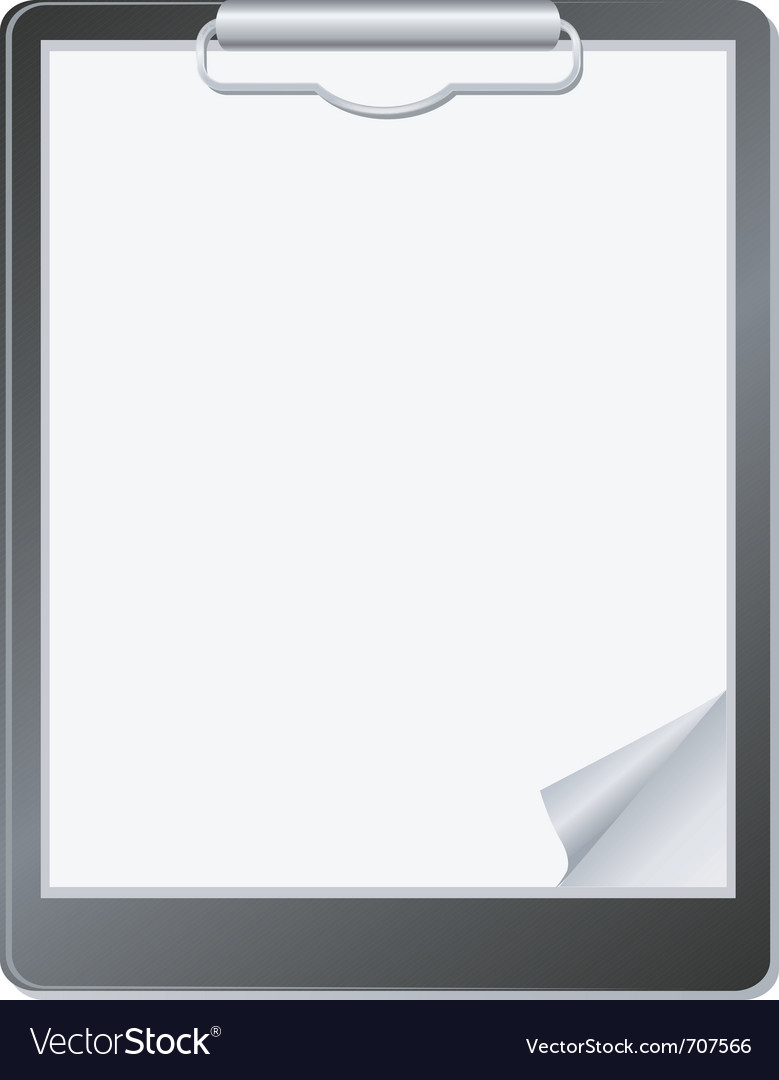 Clipboard with paper vector | Price: 1 Credit (USD $1)