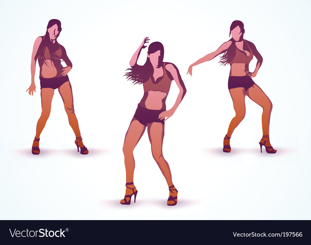 Dancing girls vector | Price: 1 Credit (USD $1)