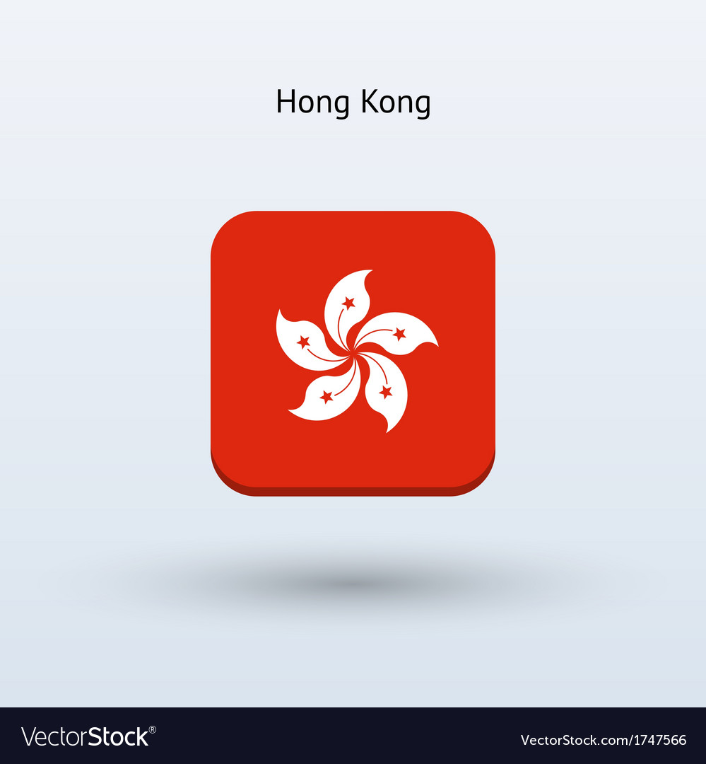 Hong kong flag icon vector | Price: 1 Credit (USD $1)