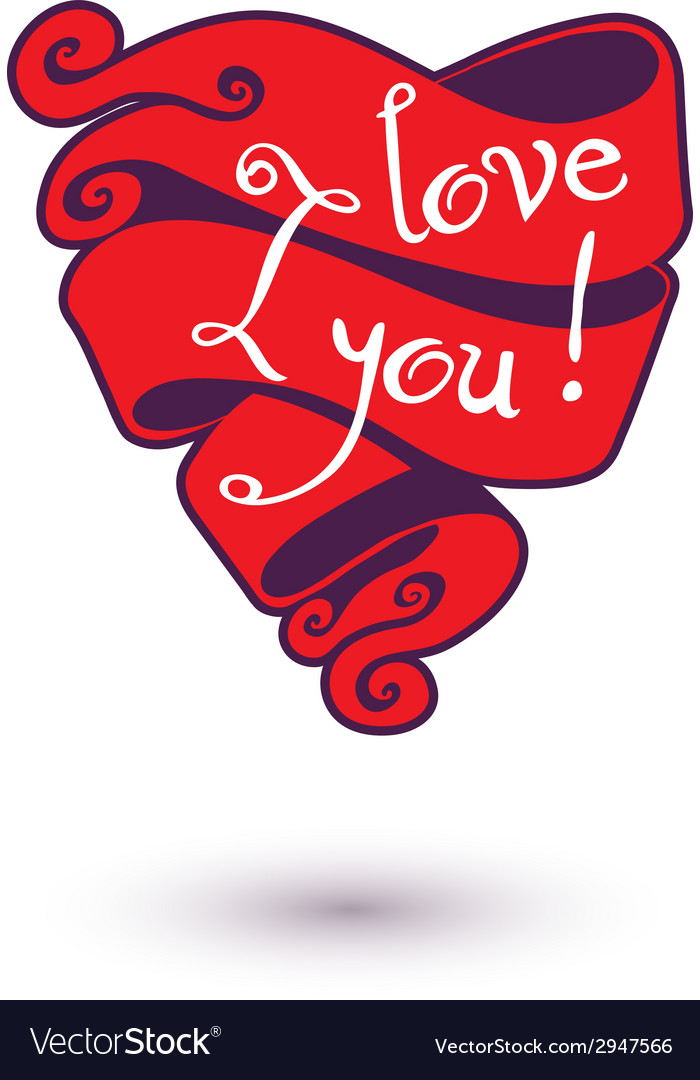 I love you design template for your design vector | Price: 1 Credit (USD $1)