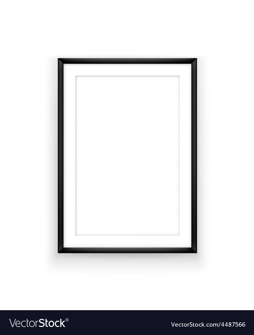 Poster frame design template vector