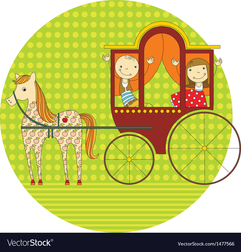 Ride in a carriage vector | Price: 3 Credit (USD $3)