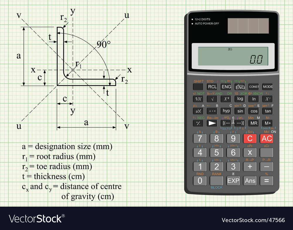 Scientific calculator vector | Price: 1 Credit (USD $1)