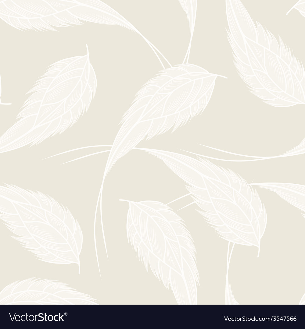 Seamless pattern with white feathers vector | Price: 1 Credit (USD $1)