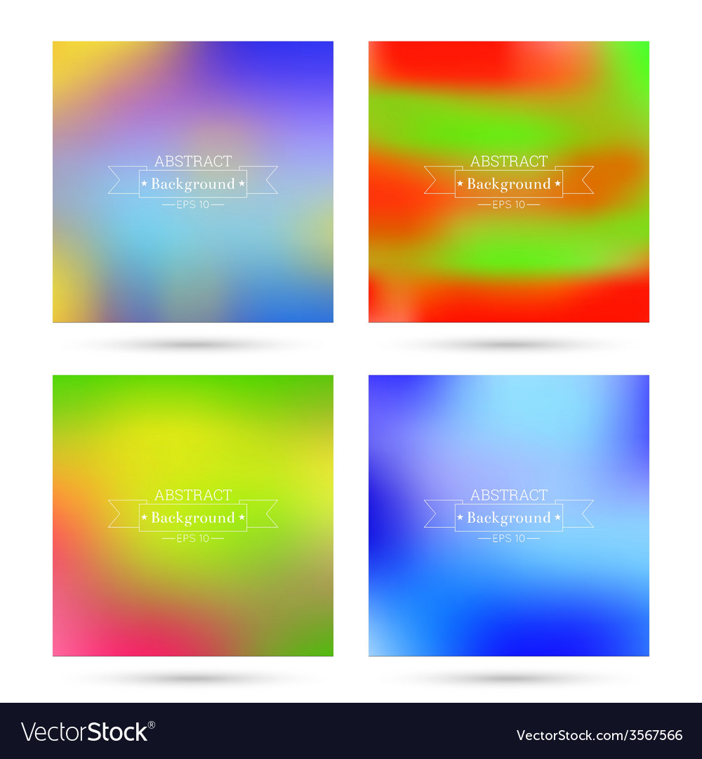 Set of colorful abstract backgrounds blurred vector | Price: 1 Credit (USD $1)