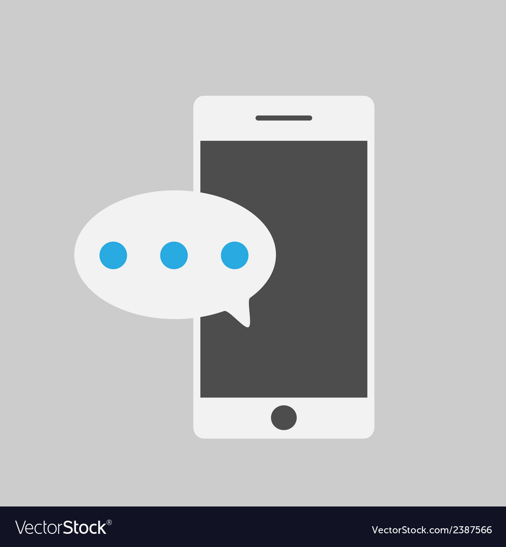 Smart phone and massegeflat style vector | Price: 1 Credit (USD $1)