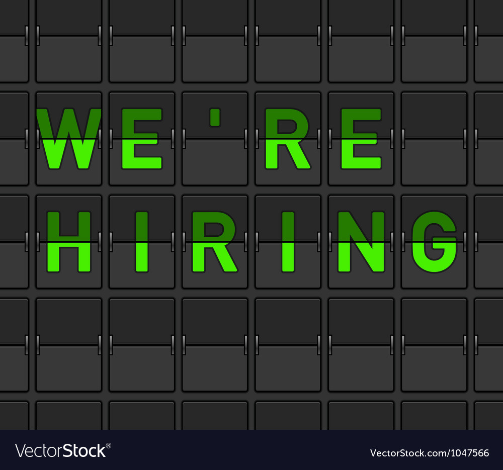 We are hiring flip board vector | Price: 1 Credit (USD $1)