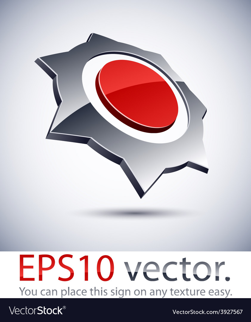 3d modern prickly logo icon vector | Price: 1 Credit (USD $1)