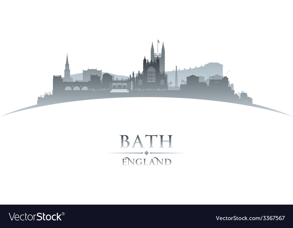 Bath england city skyline silhouette vector | Price: 1 Credit (USD $1)