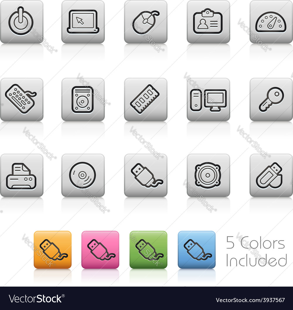 Computer devices buttons vector | Price: 1 Credit (USD $1)
