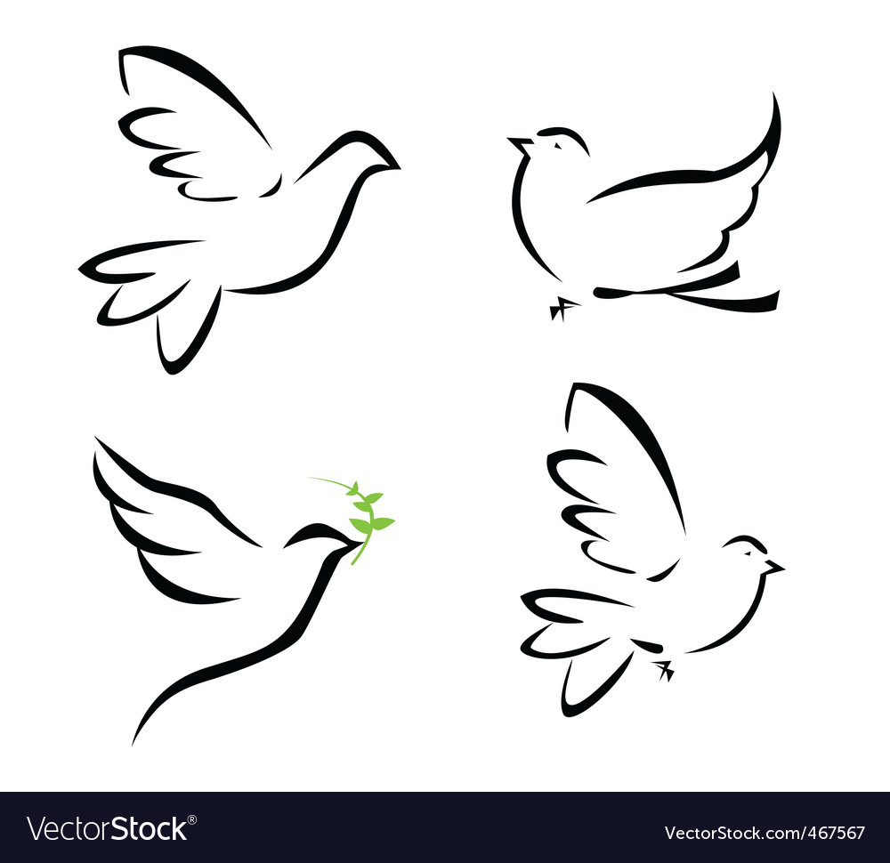 Dove illustration vector | Price: 1 Credit (USD $1)