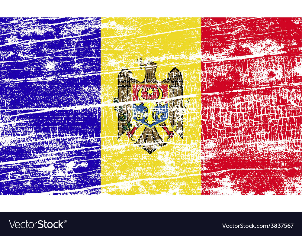 Flag of moldova with old texture vector   Price: 1 Credit (USD $1)