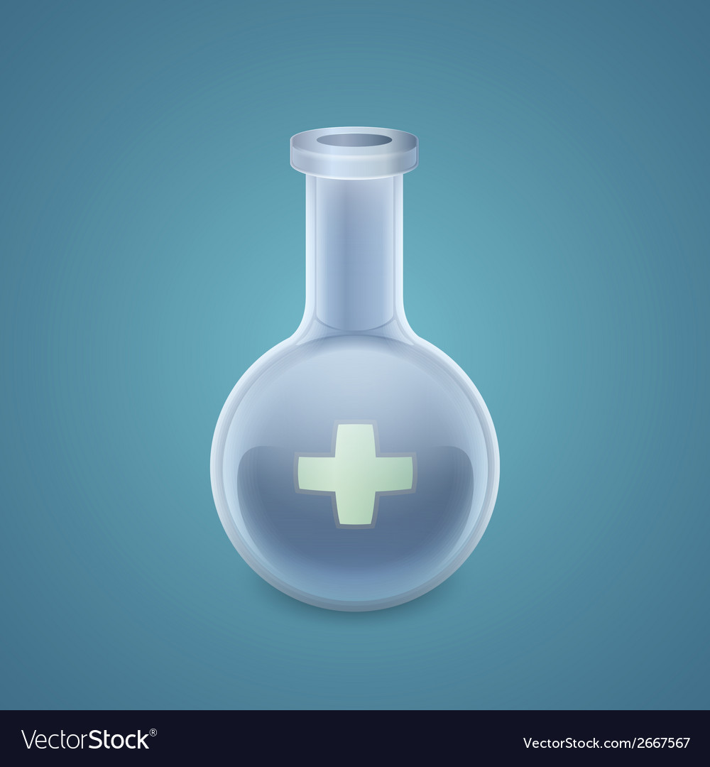 Medical round bottom flask vector | Price: 1 Credit (USD $1)