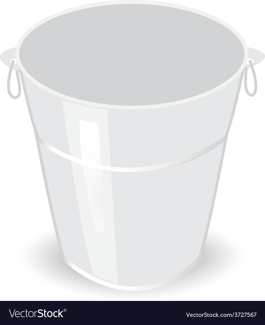 Metal bucket vector | Price: 1 Credit (USD $1)