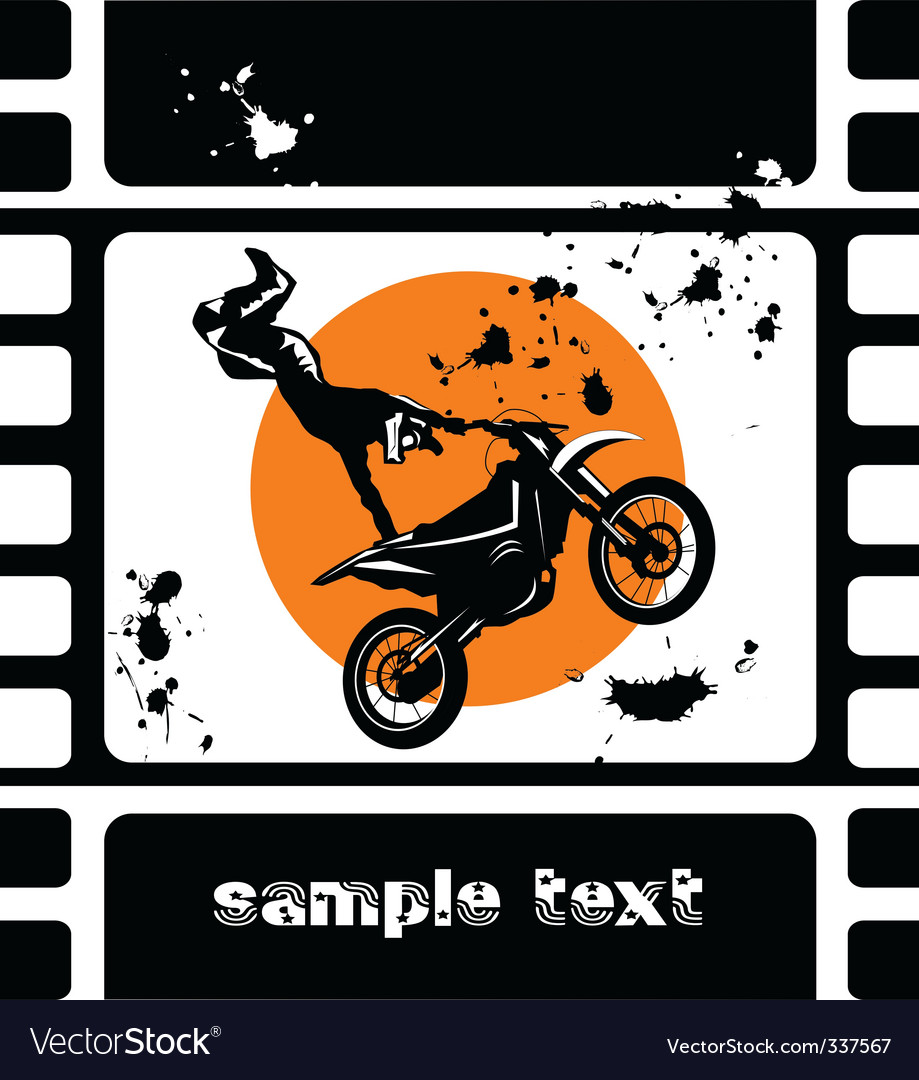Motocross movie vector | Price: 1 Credit (USD $1)