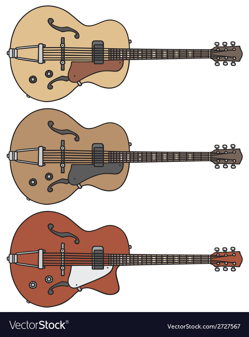 Old electric guitars vector | Price: 1 Credit (USD $1)