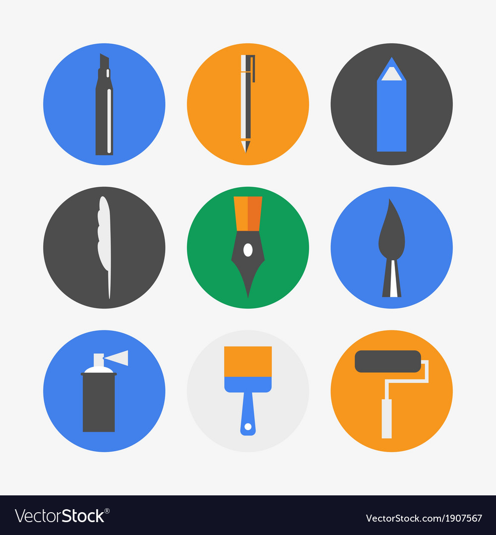 Pen icons vector | Price: 1 Credit (USD $1)