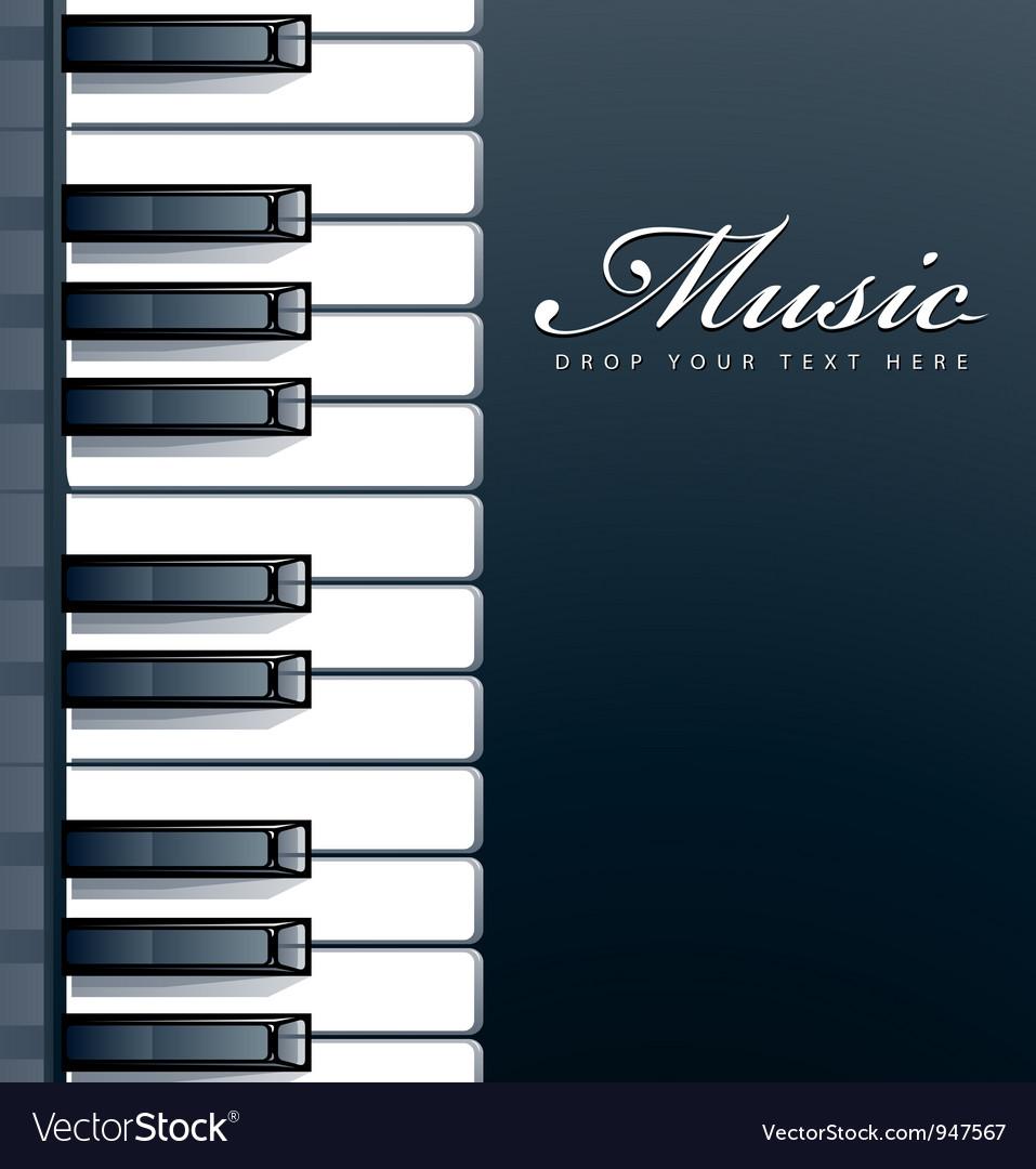 Piano keys background vector | Price: 1 Credit (USD $1)