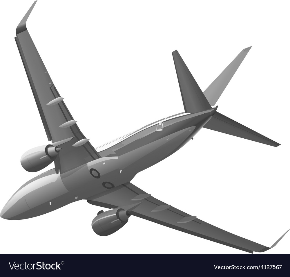Private plane in the sky vector | Price: 1 Credit (USD $1)