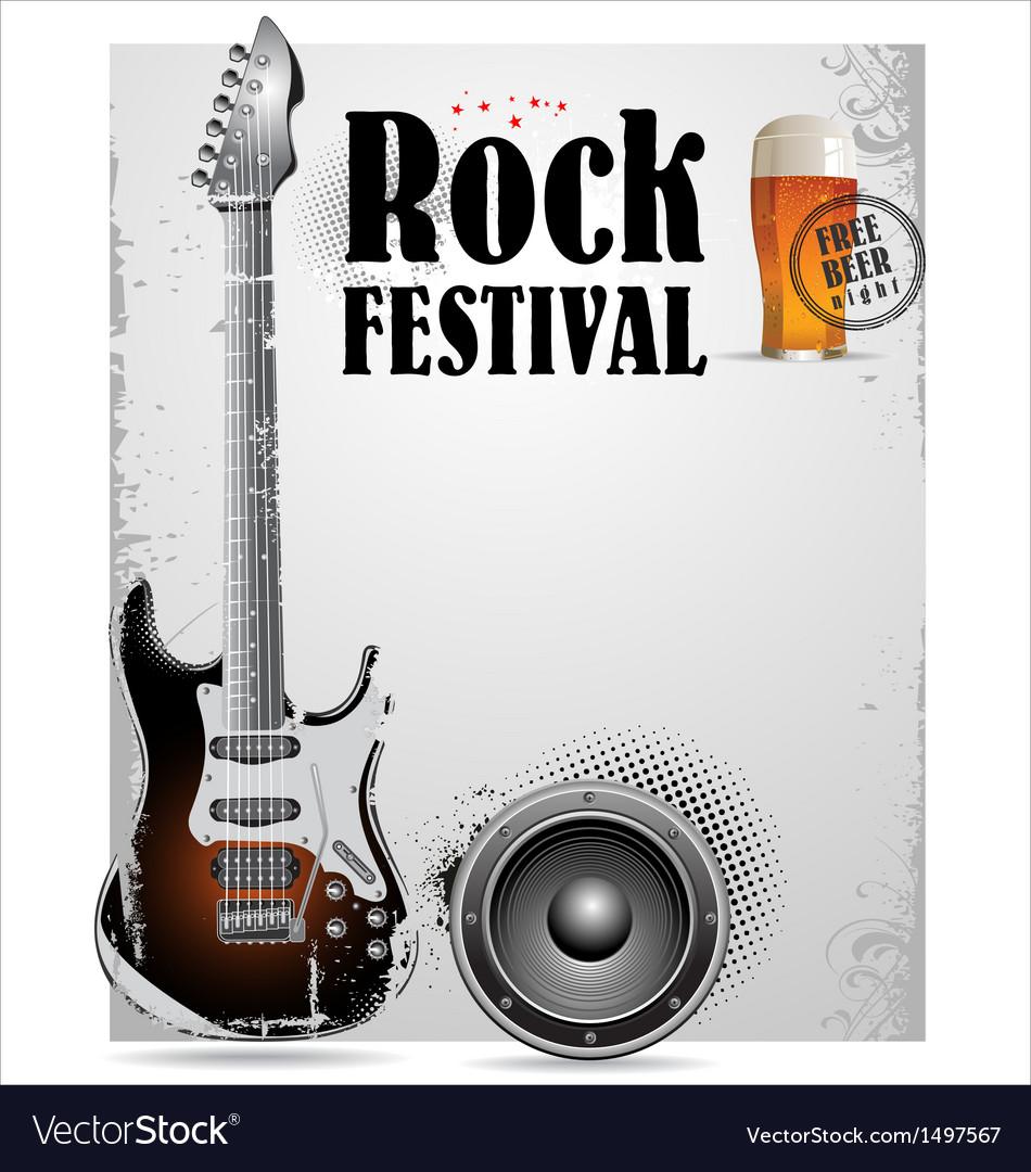 Rock festival poster vector | Price: 1 Credit (USD $1)