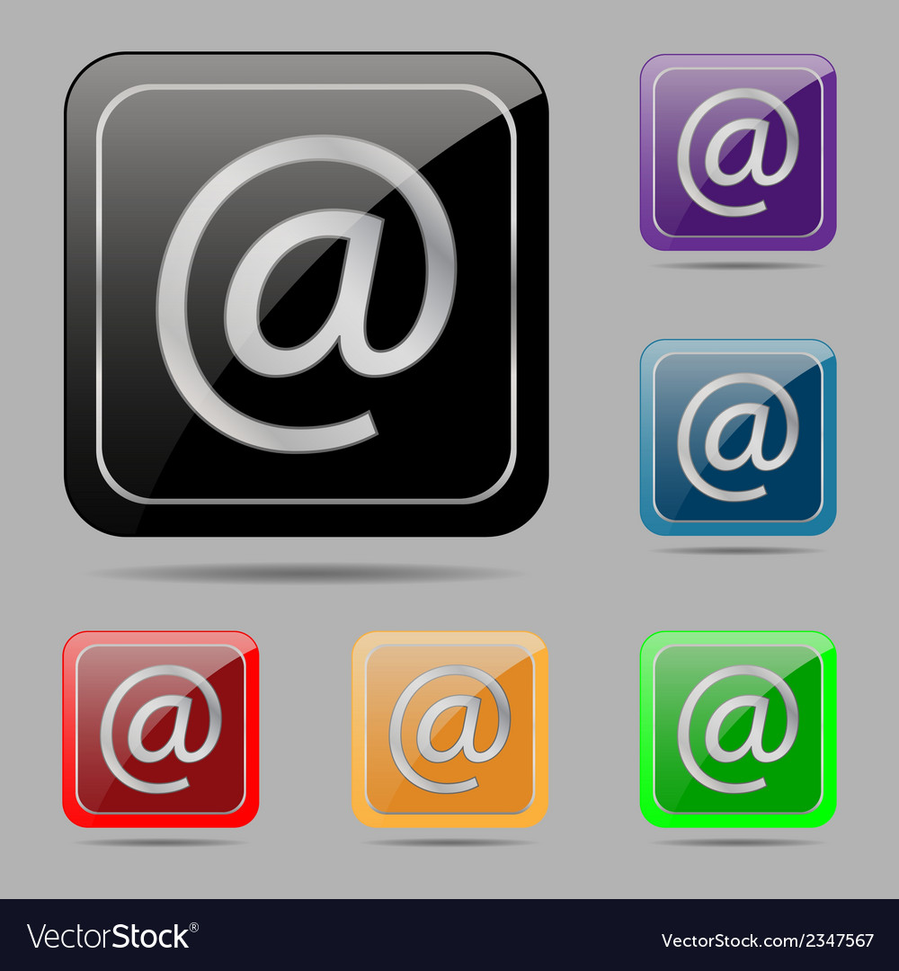 Set buttons e mail vector | Price: 1 Credit (USD $1)