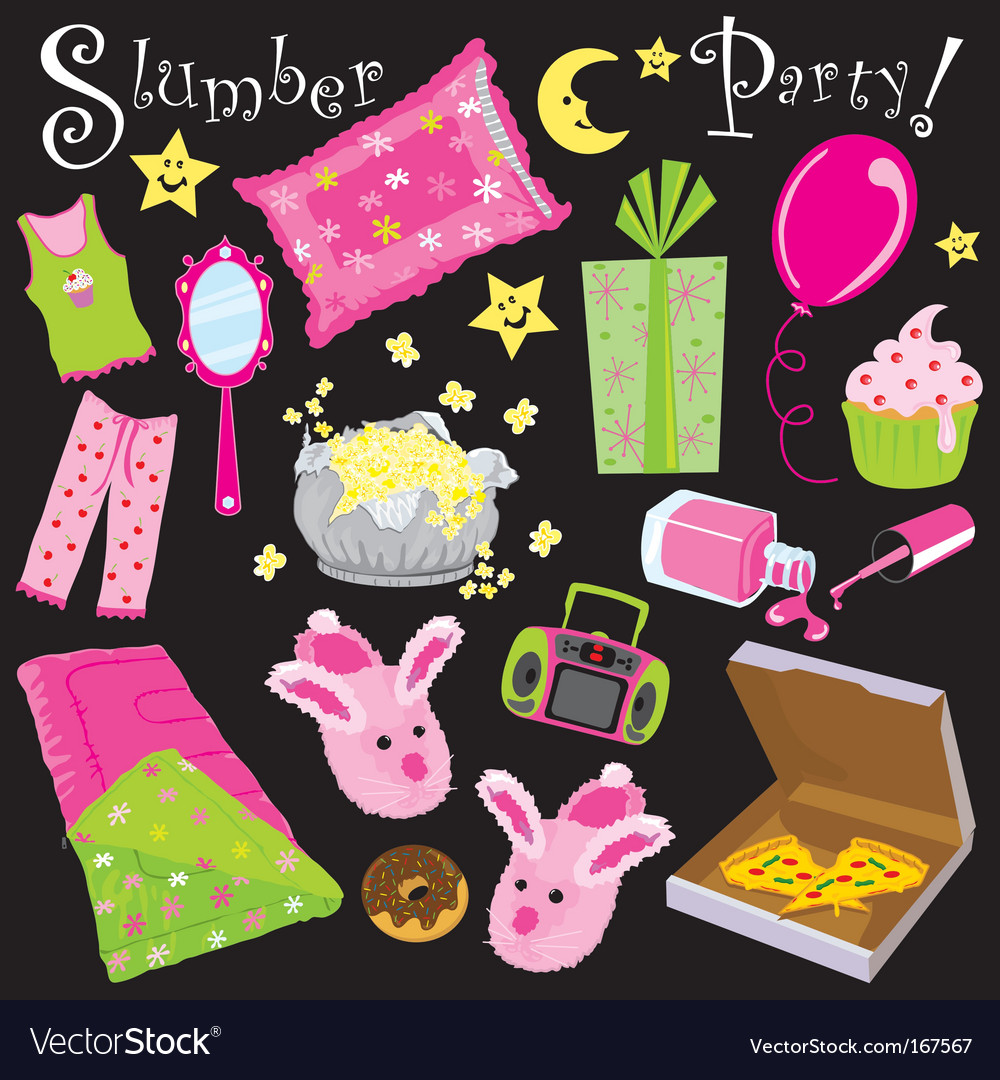 Slumber party vector | Price: 3 Credit (USD $3)