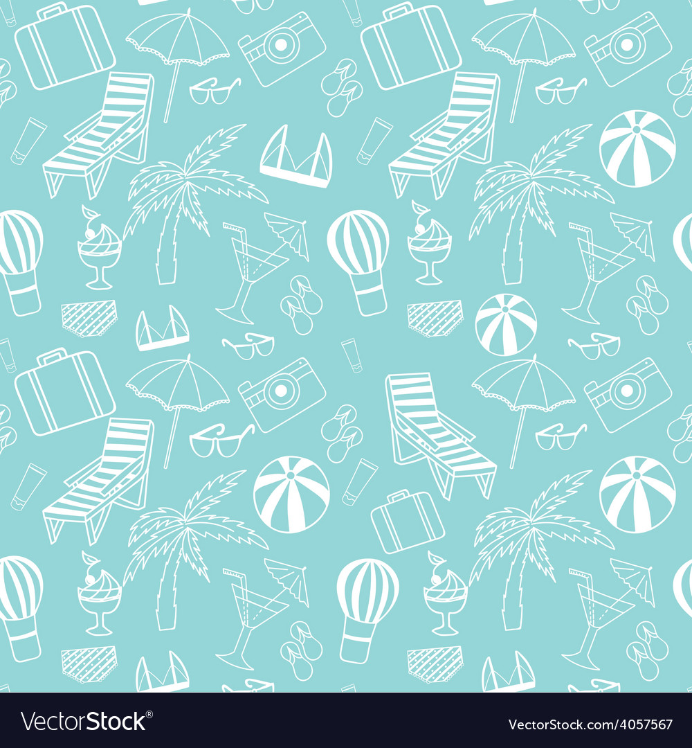 Travel touristic seamless pattern vector | Price: 1 Credit (USD $1)