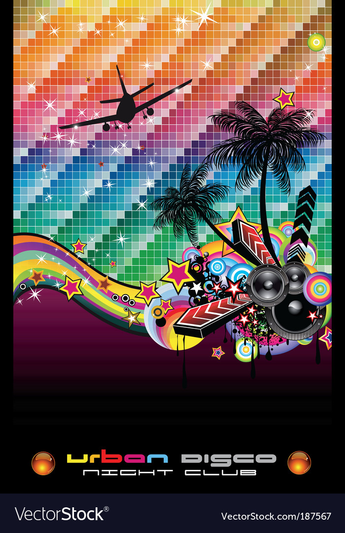 Tropical dance disco flyer vector | Price: 3 Credit (USD $3)