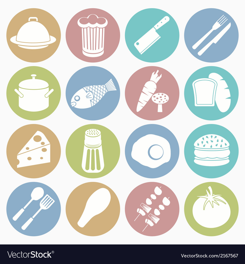 White icons food vector | Price: 1 Credit (USD $1)