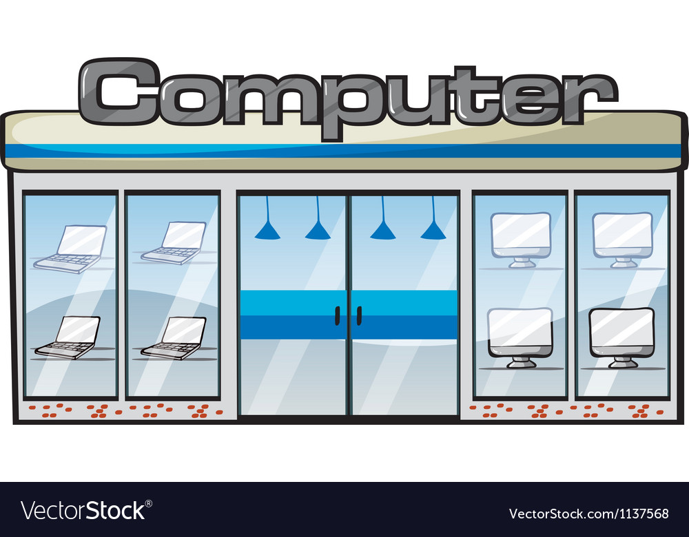 A computer store vector | Price: 1 Credit (USD $1)