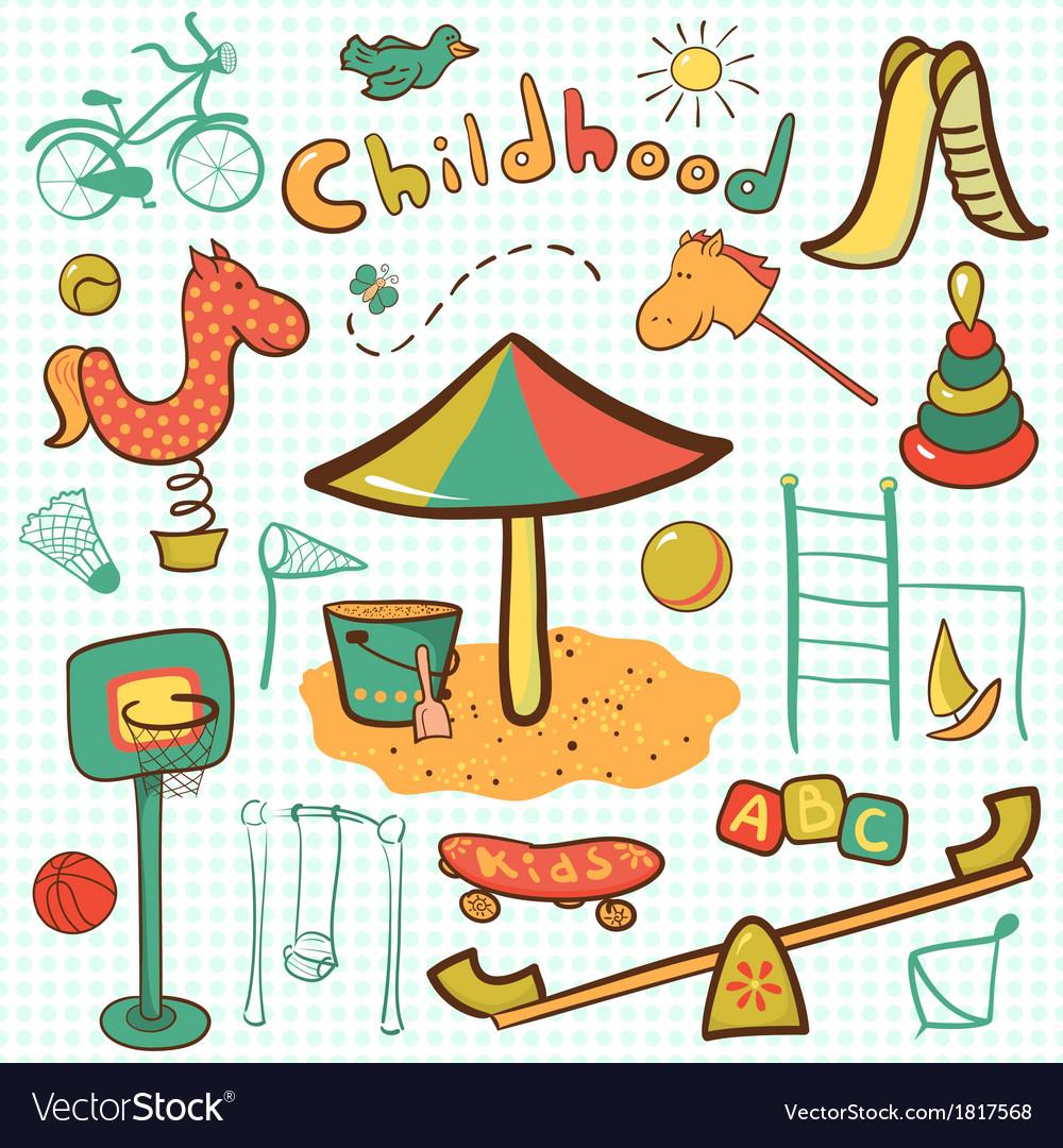 Cartoon children playground icon vector   Price: 1 Credit (USD $1)