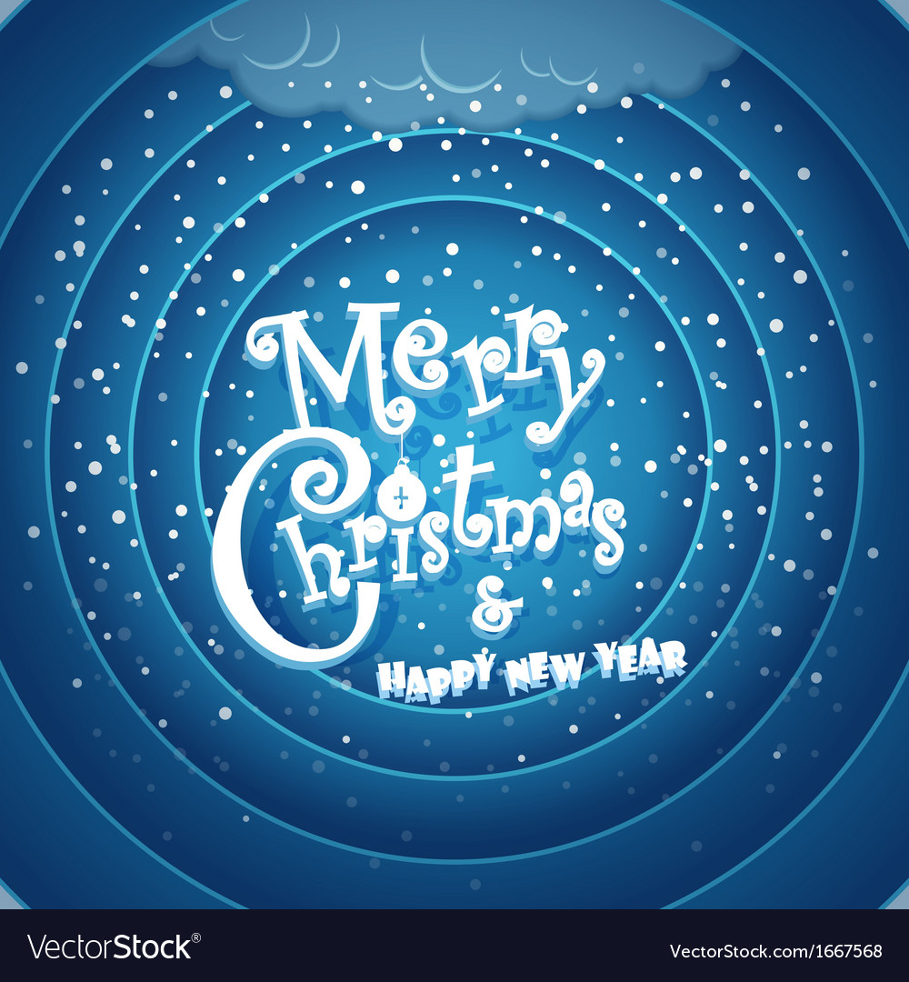 Merry christmas and happy new year vector   Price: 1 Credit (USD $1)