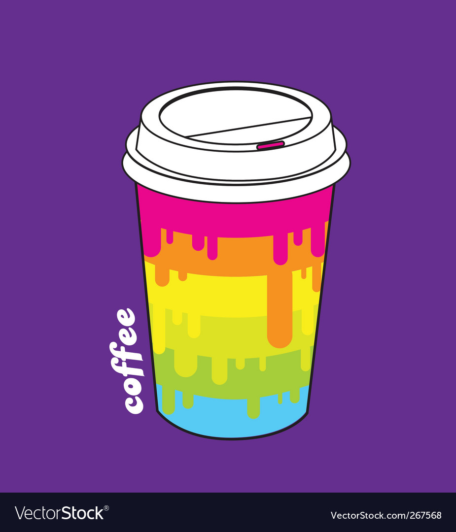 Paper coffee cup vector | Price: 1 Credit (USD $1)